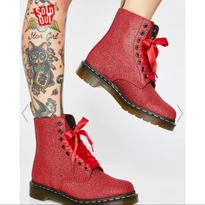 NEW❤️Dr. Martens 1460 Glitter Pascal Lace Up Boots